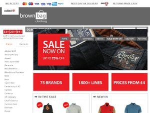 Brown Bag Clothing website