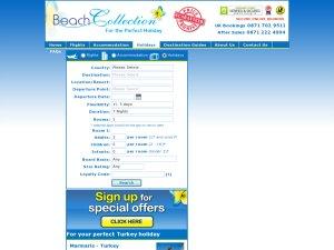 Beach Collection website