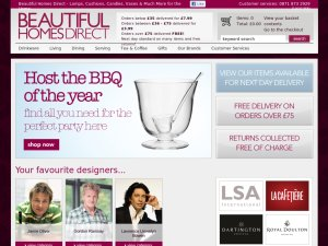Beautiful Homes Shop website