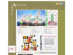 Beauty Bazaar website
