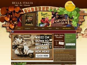 Bella Italia website
