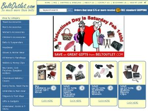 Belt Outlet website