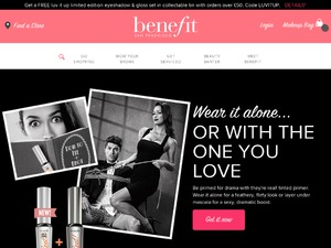 Benefit Cosmetics website