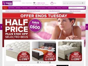 Bensons For Beds website