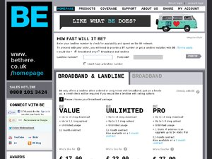 Be Broadband website