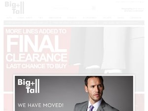 Big and Tall Suits website