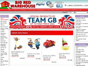 Big Red Warehouse website