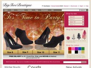 Big Shoe Boutique website