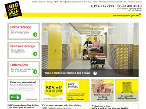 Big Yellow website