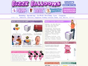Bizzy Balloons website