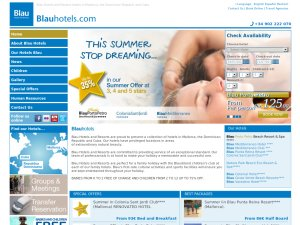 Blau Hotels & Resorts website