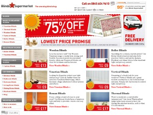 Blinds Supermarket website