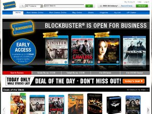 Blockbuster website