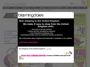 Bloomingdales website