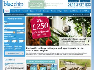 Blue Chip Holidays website