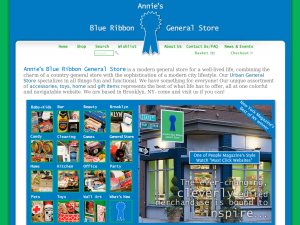 Blue Ribbon General Store website