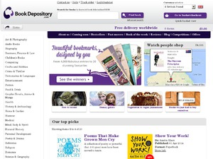 The Book Depository website