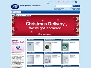 Boots Kitchen Appliances website