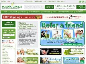 Botanic Choice website