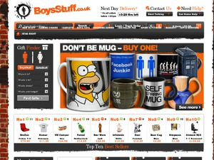 Boys Stuff website