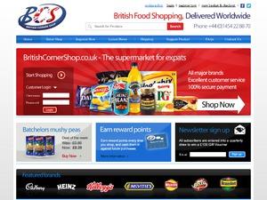 British Corner Shop website