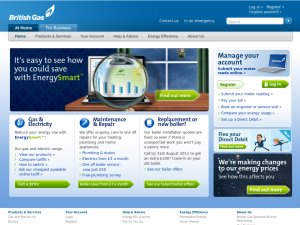 British Gas website