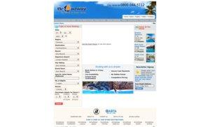 Broadway Travel website