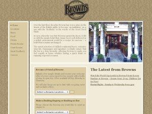 Browns restaurant website