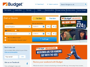 Budget Car Hire website
