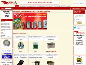 Budget Batteries website