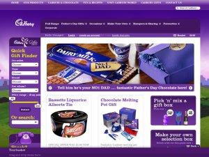 Cadbury Gifts Direct website