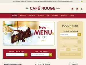Cafe Rouge website