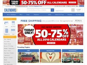 Calendars.com website
