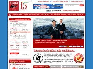 Canadian Affair website