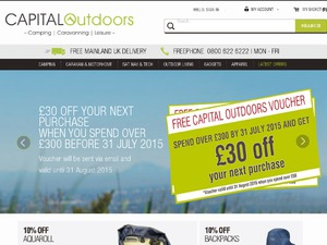 Capital Outdoors website