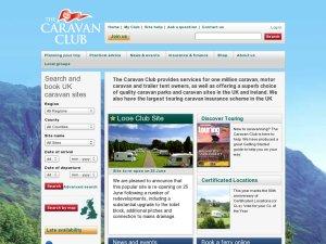 Caravan Club website