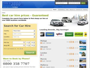 carhire3000 website