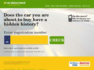 Car Status Check website