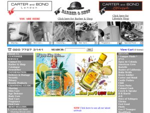 Carter and Bond website