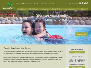 Center Parcs website