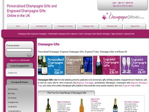 Champagne Gifts 4 U website