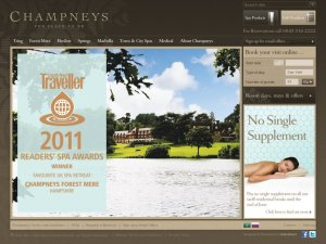 Champneys Health Resorts website