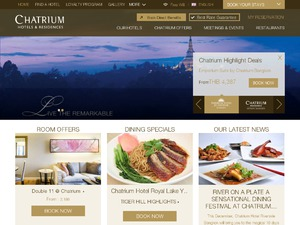 Chatrium Hotels US & CA website