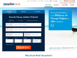 CheapOair website
