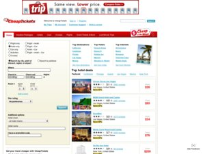 CheapTickets website