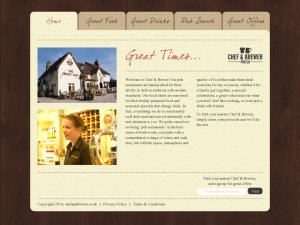 Chef & Brewer aim to bring the best of a British country pub to their guests, featuring an authentic experience, a relaxing atmosphere, great food & drink, and a very warm friendly welcome. - Please note that the 25% discount off of the total bill applies only to drinks which are ordered when dining.