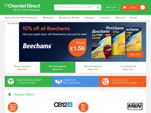 Chemist Direct website