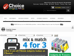 Choice Stationery Supplies website
