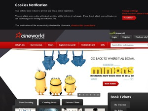 Cineworld website