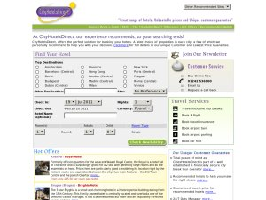 City Hotels Direct website